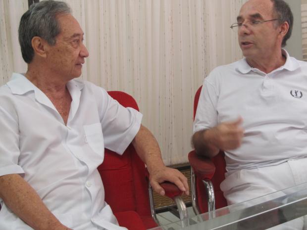 George Takimoto e Luiz Machado: preparando o PSL para as eleições municipais de 2012 - Crédito: Foto: Marcos Santos