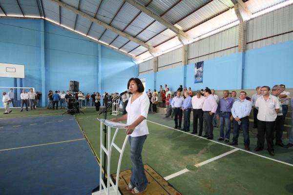 Prefeita Délia Razuk recepcionou e acompanhou governador André Puccinelli em Dourados Crédito: A. Frota -