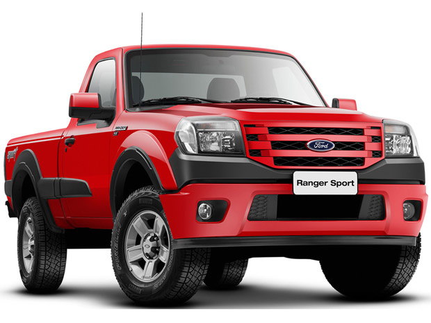 Ford Ranger Sport ganhou leves alterações no visual - Crédito: Foto: Divulgação