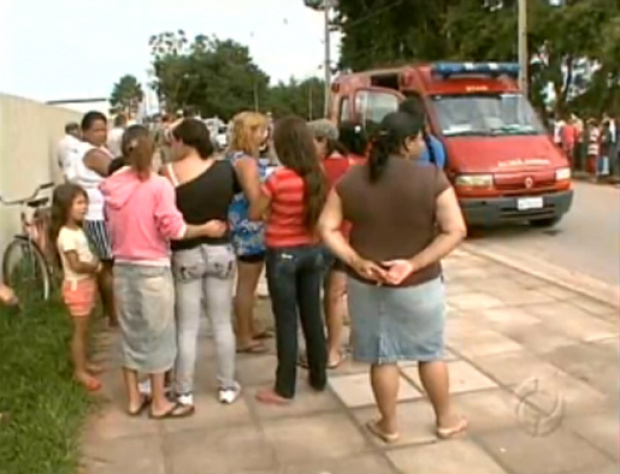 Homem é morto em frente a escola na Grande Curitiba - Crédito: Foto : TV/PARANÁ