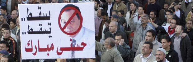Manifestantes protestam na Praça Tahrir nesta terça-feira - Crédito: Foto: AP