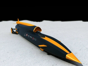 Blondhound SSC pode chegar a 1,6 mil quilômetros por hora de velocidade. - Crédito: Crédito: BBC