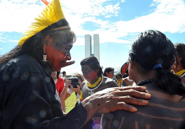 Índios fazem manifestação em Brasília - Crédito: Foto: Divulgação