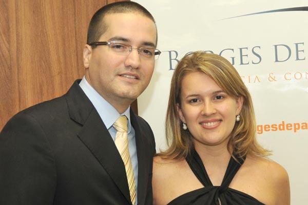 Marco Aurélio e a esposa Paula -