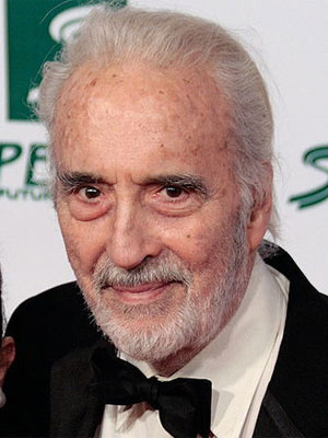 O ator Christopher Lee - Crédito: Foto: Wikimedia