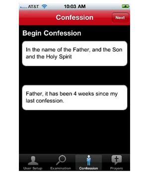 Aplicativo permite que usuários se confessem pelo iPhone. - Crédito: Foto: Reprodução