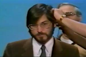 Steve Jobs em sua primeira aparição na TV  - Crédito: Foto: Reprodução