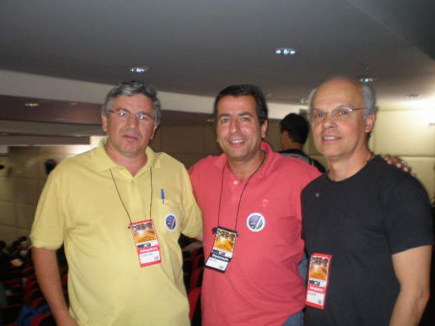 Luciano, Sérgio Murilo e Schröder durante congresso em São Paulo - Crédito: Foto : Divulgação