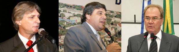 Dirceu Longhi, Gino Ferreira e Idenor Machado concorrem à presidência - Crédito: Foto : Hedio Fazan/PROGRESSO