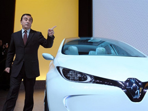 Carlos Ghosn, CEO da Renault, apresenta os resultados - Crédito: Foto: AFP