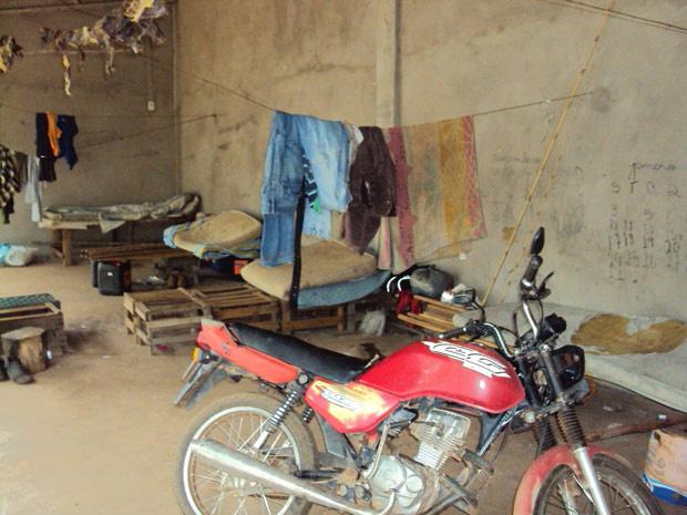 Local onde foram encontrados os trabalhadores em situação análoga à escravidão em Mato Grosso - Crédito: Foto: Divulgação/PRF-MT