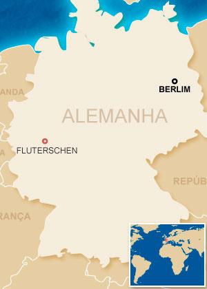 Mapa localiza Fluterschen - Crédito: Foto: Arte G1