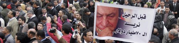 Manifestantes protestam contra Mubarak nesta quinta-feira - Crédito: Foto: AP