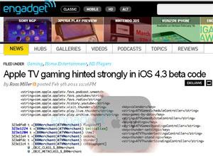 Site afirma ter encontrado código que transformaria a Apple TV em plataforma de games  - Crédito: Foto: Reprodução