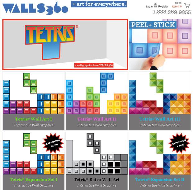 A empresa Walls360 lançou no mercado adesivos para a parede baseados no game de quebra-cabeça \'Tetris\'. A vantagem, de acordo com a companhia, é que é possível brincar de \'encaixar as peças\', podendo mudar o visual do quarto, por exemplo, quando quise - Crédito: Foto: Reprodução