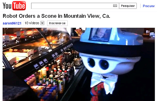 Por meio de câmera, engenheiro consegue controlar os movimentos do robô. - Crédito: Foto: Reprodução/YouTube