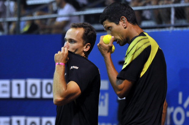 Bruno Soares e Marcelo Melo, da Equipe Centauro de Tênis, no Brasil Open 2011 - Crédito: Crédito: João Pires/VIPCOMM