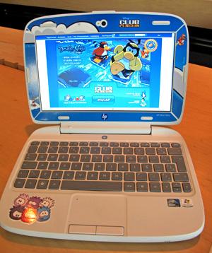 HP Mini 100e tem tela de 10,1 polegadas e webcam  - Crédito: Foto: Gabriel dos Anjos/G1