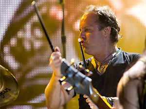 O baterista do Metallica, Lars Ulrich - Crédito: Foto: Daigo Oliva/G1