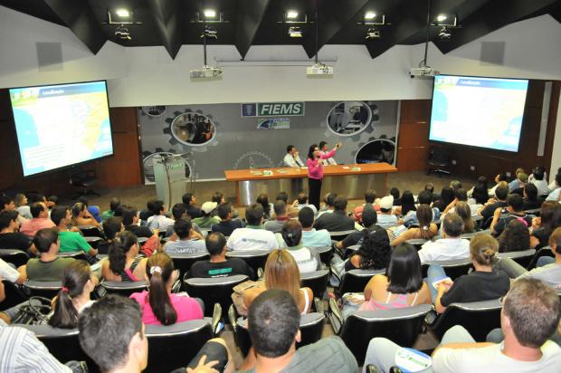 Aula inaugural do curso superior de Tecnologia em Processos Gerenciais - Crédito: Foto : Divulgação