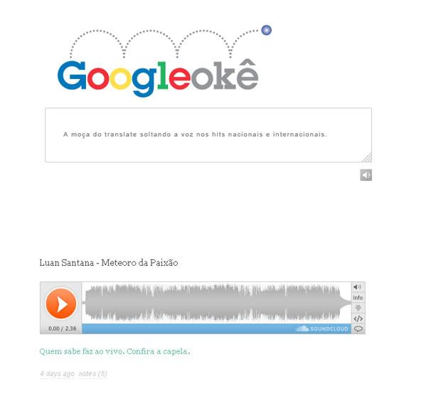 Site utiliza voz robótica do serviço Google Translate para cantar músicas famosas - Crédito: Foto: Reprodução