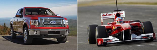 F-150 é o nome da picape da Ford que a Ferrari havia adotado para a temporada 2011 de F1 - Crédito: Foto: Reuters