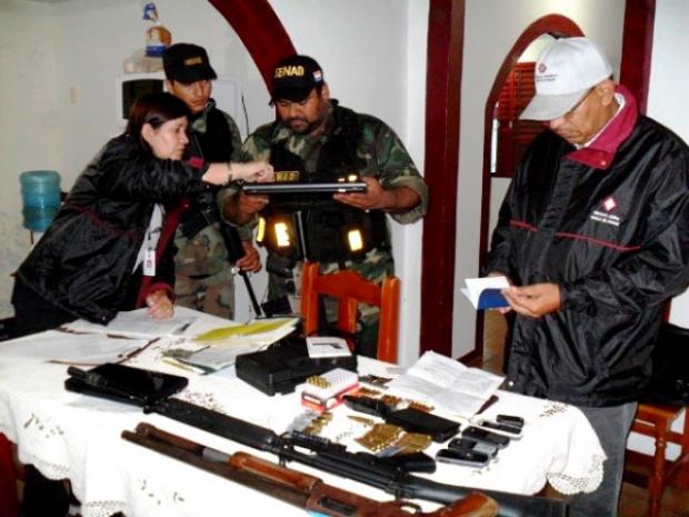 Armamento de grosso calibre foi apreendido ontem - Crédito: Foto: Senad