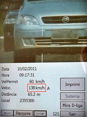 Radar registra excesso de velocidade em trecho da BR-235 - Crédito: Foto: Divulgação/Polícia Rodoviária Federal