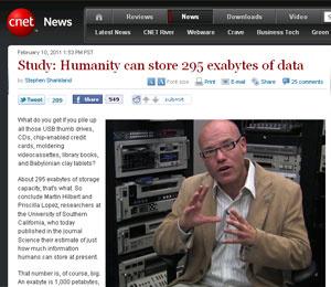 Martin Hilbert é um dos responsáveis pelo estudo que mediu a capacidade de armazenamento global. - Crédito: Foto: Reprodução/CNET