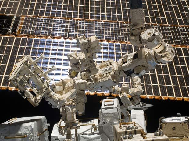 O robô Dextre, da agência espacial canadense - Crédito: Foto: Nasa