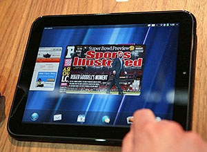 Tablet TouchPad, da HP, usa o Snapdragon da Qualcomm - Crédito: Foto: Kimihiro Hoshino/AFP