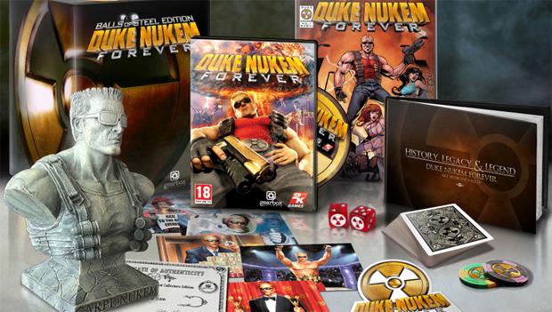 Imagem da edição especial do novo game de  Duke Nukem - Crédito: Foto: Divulgação