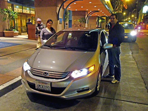 Brasileiros compraram carro híbrido em São Francisco - Crédito: Foto: Priscila Dal Poggetto/G1