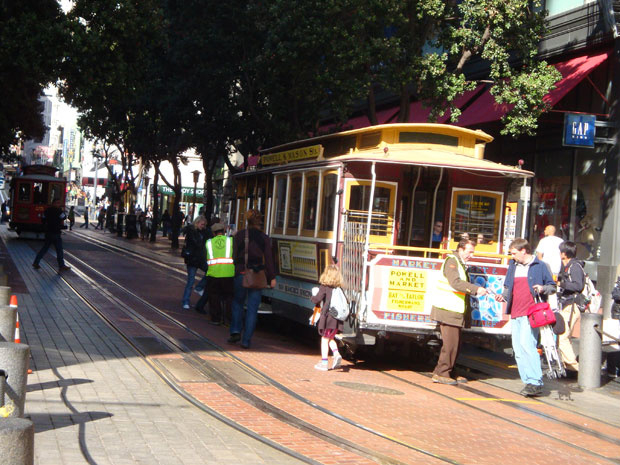 \'Cable car\' é a principal atração de São Francisco - Crédito: Foto: Priscila Dal Poggetto/G1