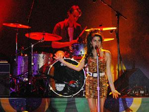 Amy Winehouse em show no Rio  - Crédito: Foto: Alexandre Durão/G1