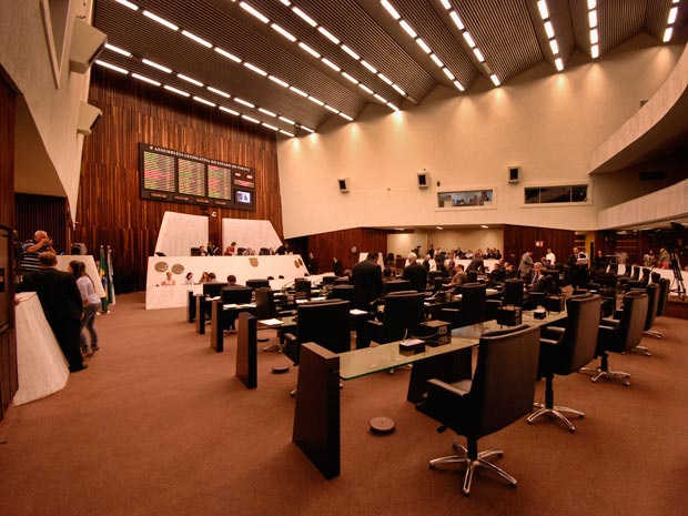 Plenário da Assembleia Legislativa do Paraná na tarde desta segunda-feira - Crédito: Foto: Vinícius Sgarbe/ G1 PR