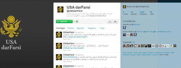 Mensagens em farsi da diplomacia americana para os iranianos, nesta segunda-feira - Crédito: Foto: Reprodução