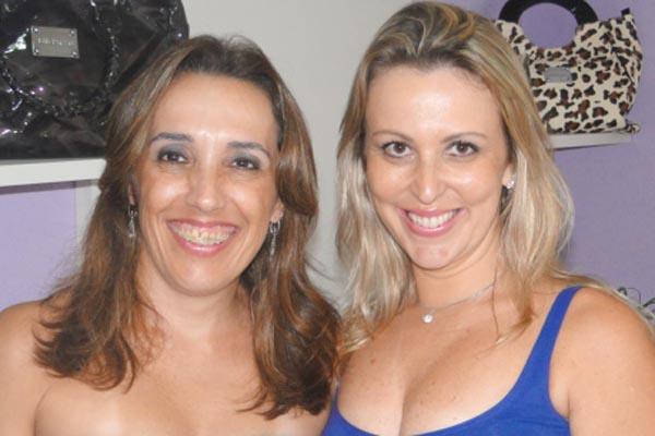 As empresárias dra. Carmen Lucia Santos e Cláudia Gomes Santos. -