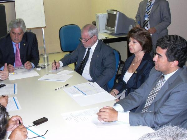 Bancada de Mato Grosso do Sul no Congresso durante reunião em Brasília Foto/Divulgação  -