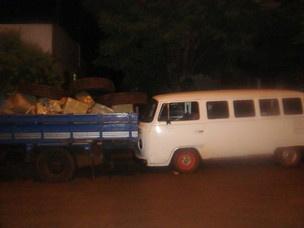Mais de três toneladas de maconha estavam às margens do Lago de Itaipu - Crédito: Foto: Divulgação PM