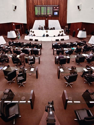 CPI cai ouvir primeiro os funcionários com acesso às salas da Assembleia Legislativa do Paraná  - Crédito: Foto: Vinícius Sgarbe/ G1 PR