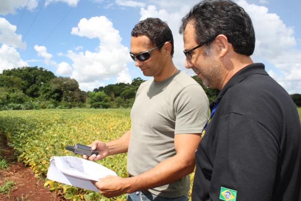 Fiscais do MPF fazem mapeamento de plantações na reserva de Dourados - Crédito: Foto: Hédio Fazan /PROGRESSO
