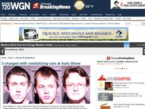 Site exibe fotos dos acusados de vandalismo  - Crédito: Foto: Reprodução/WNG Radio