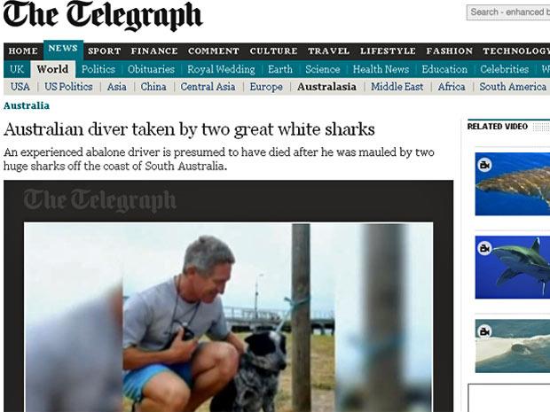 Peter Clarkson escapou de ataque em 2010 por estar usando sensor. - Crédito: Foto: Reprodução/ The Telegraph
