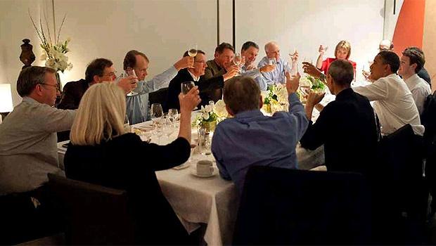 O presidente dos Estados Unidos, Barack Obama, reuniu líderes de empresas de tecnologia em um jantar realizado em San Francisco na noite de quinta-feira - Crédito: Foto: Divulgação/Casa Branca