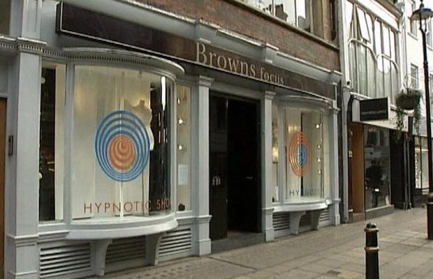 Fachada \'hipnótica\' da loja Brown Focus - Crédito: Foto: BBC