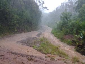 Chuva causa prejuízos em Santa Maria do Herval  - Crédito: Foto: Divulgação/Prefeitura de Santa Maria do Herval