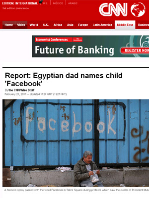 Jovens usaram Facebook para organizar protestos no Egito - Crédito: Foto: Reprodução
