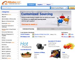 Site de comércio on-line Alibaba - Crédito: Foto: Reprodução