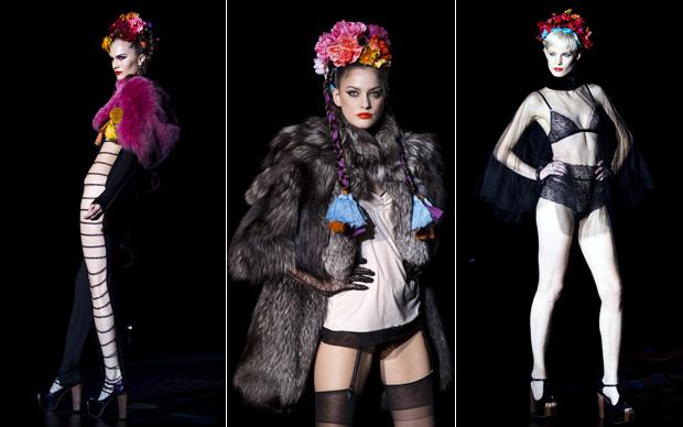 O estilista Andres Sarda apresentou as tendências da moda íntima nesta segunda-feira - Crédito: Foto: AP